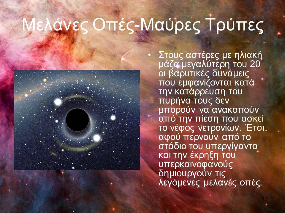 Μελάνες Οπές-Μαύρες Τρύπες