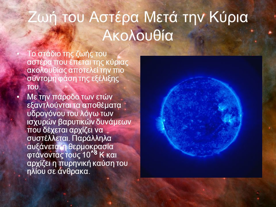 Ζωή του Αστέρα Μετά την Κύρια Ακολουθία