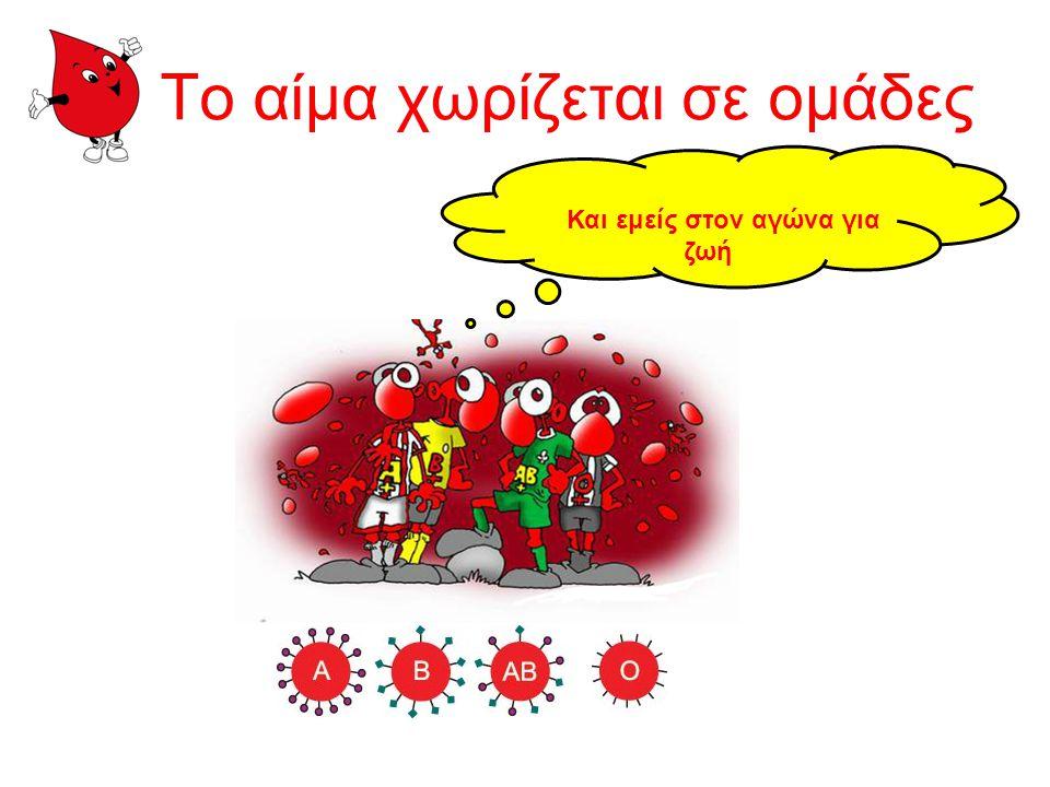 Το αίμα χωρίζεται σε ομάδες
