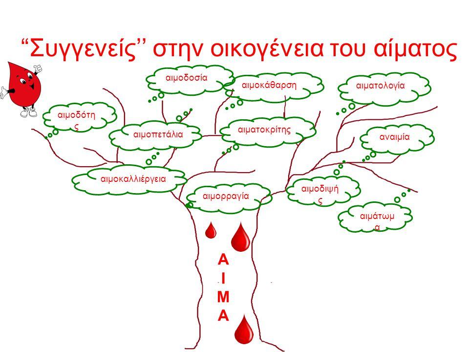 Συγγενείς'' στην οικογένεια του αίματος