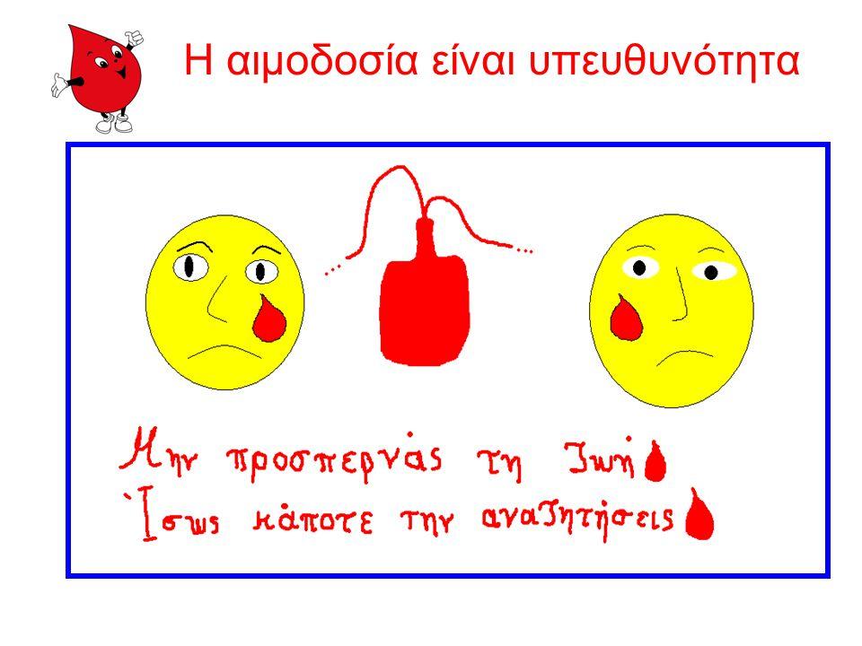 Η αιμοδοσία είναι υπευθυνότητα