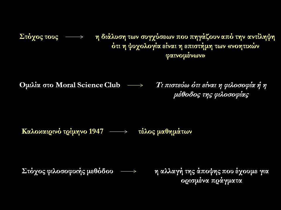 Ομιλία στο Moral Science Club