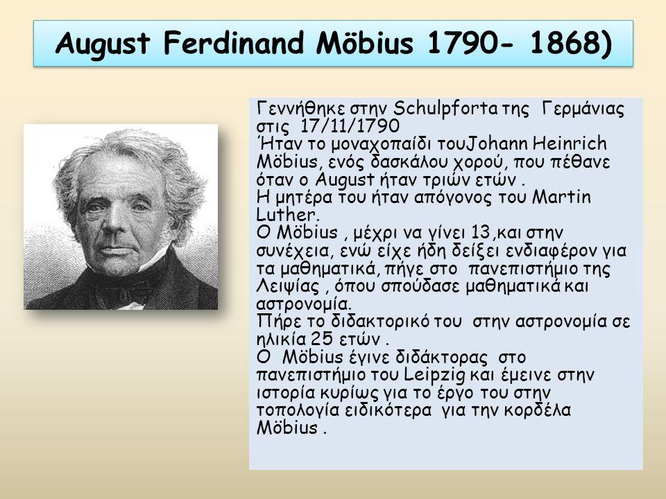 August Ferdinand Möbius 1790- 1868)