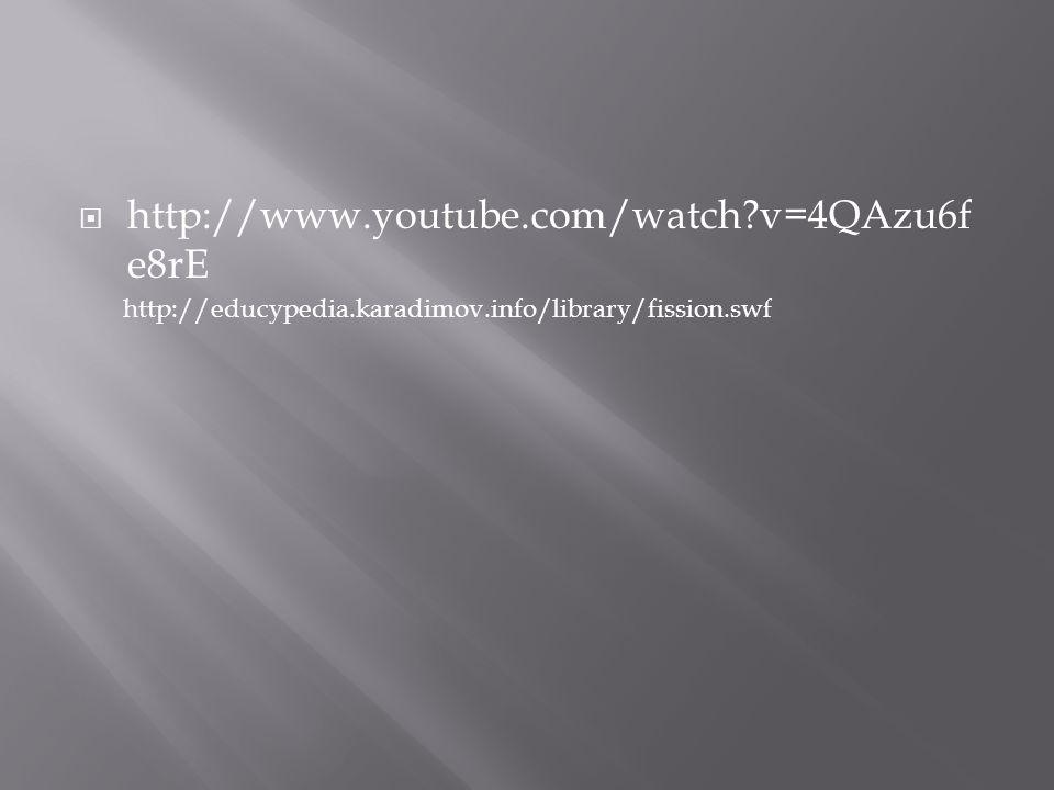 http://www.youtube.com/watch v=4QAzu6fe8rE http://educypedia.karadimov.info/library/fission.swf