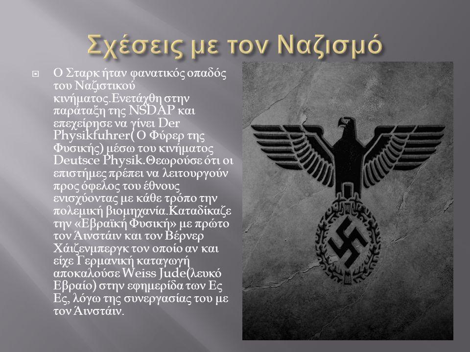 Σχέσεις με τον Ναζισμό