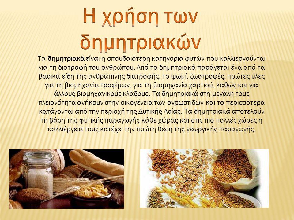 Η χρήση των δημητριακών