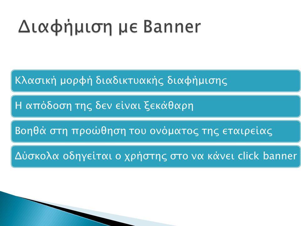 Διαφήμιση με Banner Κλασική μορφή διαδικτυακής διαφήμισης