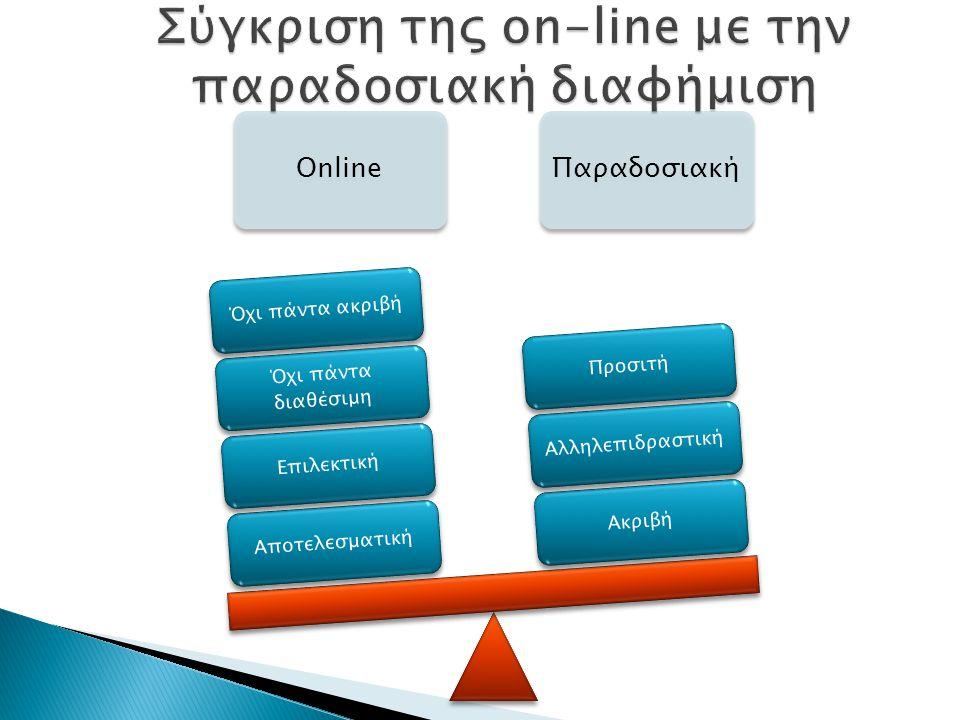 Σύγκριση της on-line με την παραδοσιακή διαφήμιση