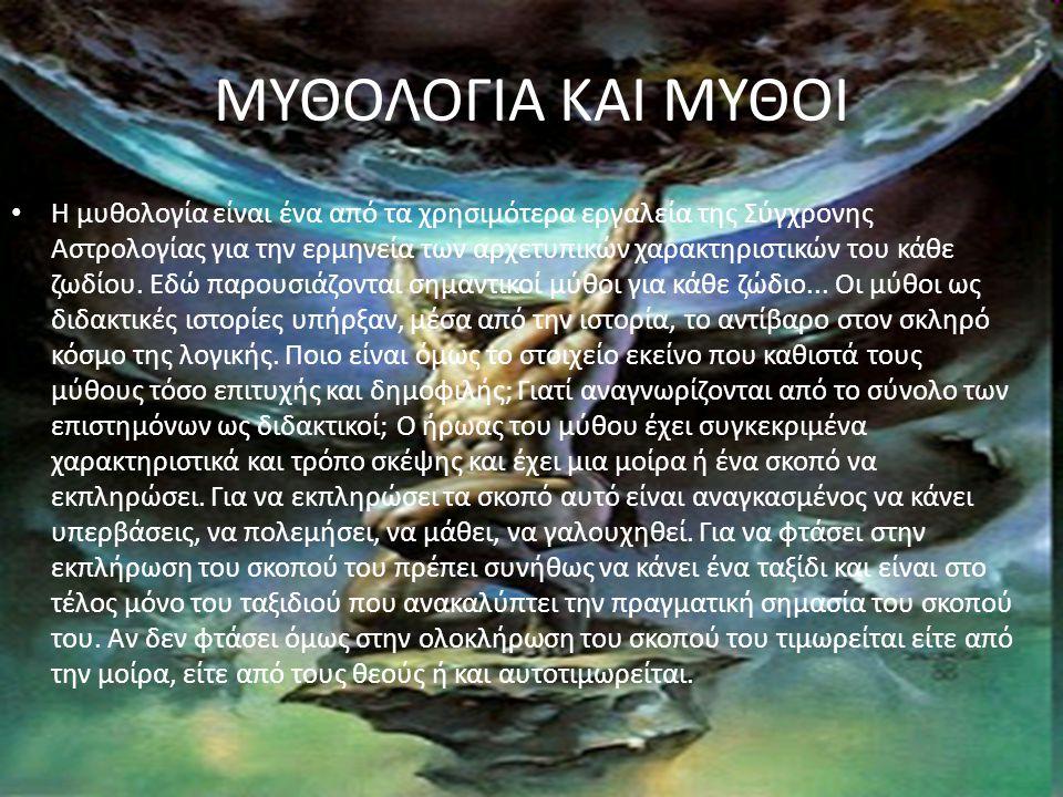 ΜΥΘΟΛΟΓΙΑ ΚΑΙ ΜΥΘΟΙ