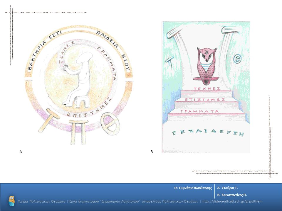 OK Α. Β. 1o Γυμνάσιο Ηλιούπολης. Α. Σταύρος Τ. Β. Κωνσταντίνος Π.