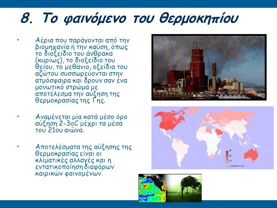 8. Το φαινόμενο του θερμοκηπίου