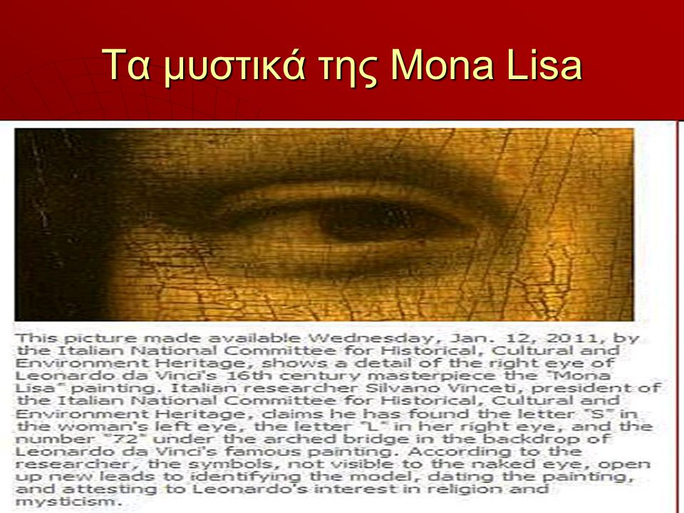 Τα μυστικά της Mona Lisa