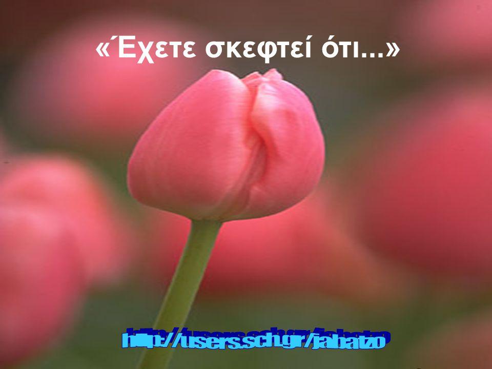 «Έχετε σκεφτεί ότι...» http://users.sch.gr/jabatzo