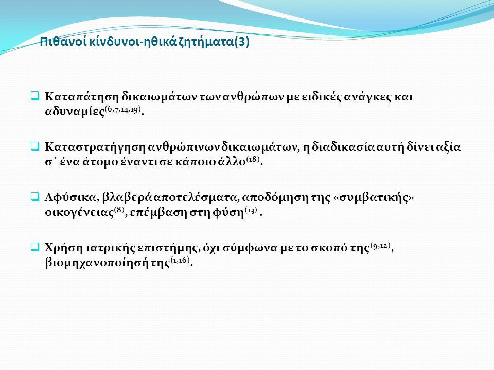 Πιθανοί κίνδυνοι-ηθικά ζητήματα(3)