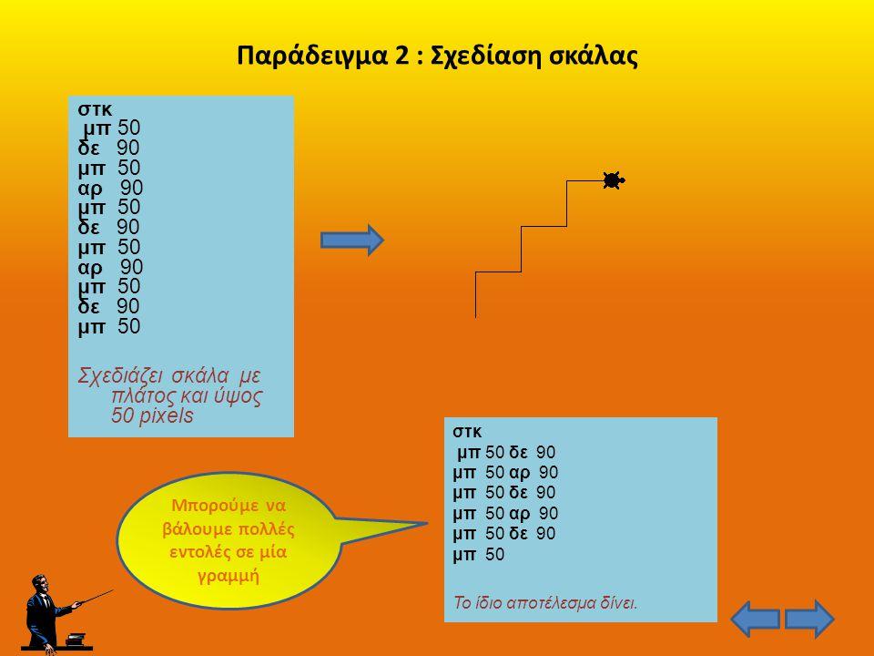 Παράδειγμα 2 : Σχεδίαση σκάλας