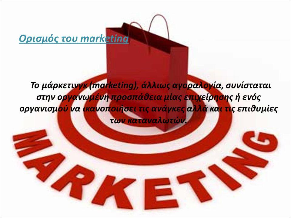 Ορισμός του marketing