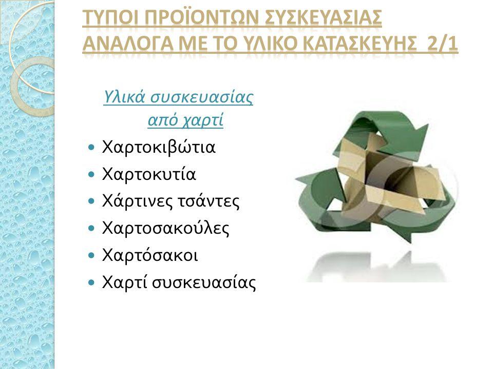 ΤΥποι προϊΟντων συσκευασΙΑΣ ανΑλογα με το υλικΟ κατασκευΗΣ 2/1