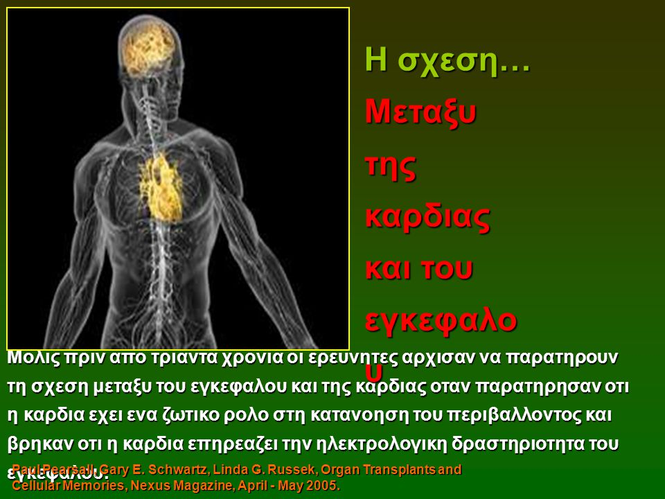 Η σχεση… Μεταξυ της καρδιας και του εγκεφαλου