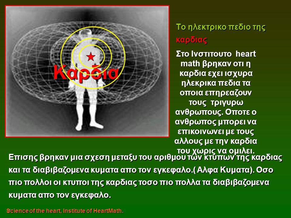 Καρδια Tο ηλεκτρικο πεδιο της καρδιας