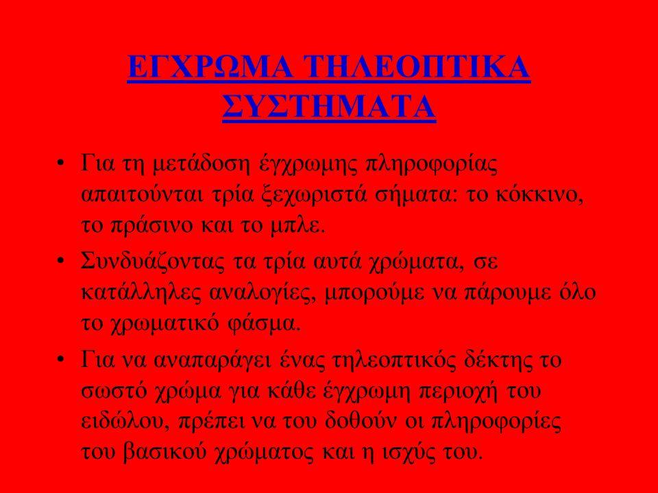 ΕΓΧΡΩΜΑ ΤΗΛΕΟΠΤΙΚΑ ΣΥΣΤΗΜΑΤΑ
