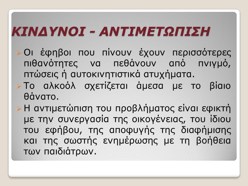 ΚΙΝΔΥΝΟΙ - ΑΝΤΙΜΕΤΩΠΙΣΗ
