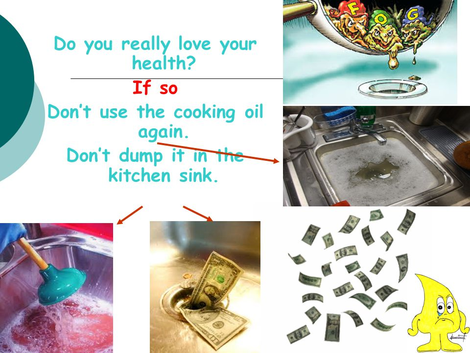Do you really love your health If so Don't use the cooking oil again.