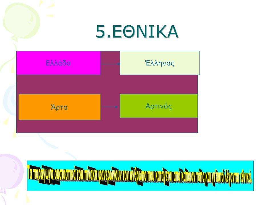 5.ΕΘΝΙΚΑ Ελλάδα Έλληνας Άρτα Αρτινός