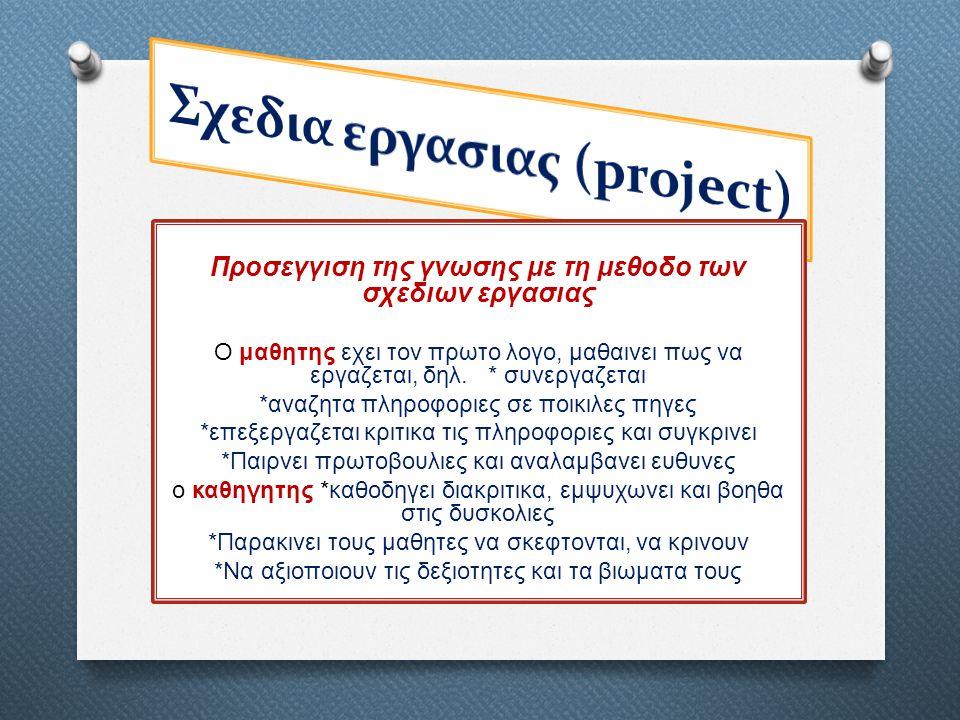 Σχεδια εργασιας (project)
