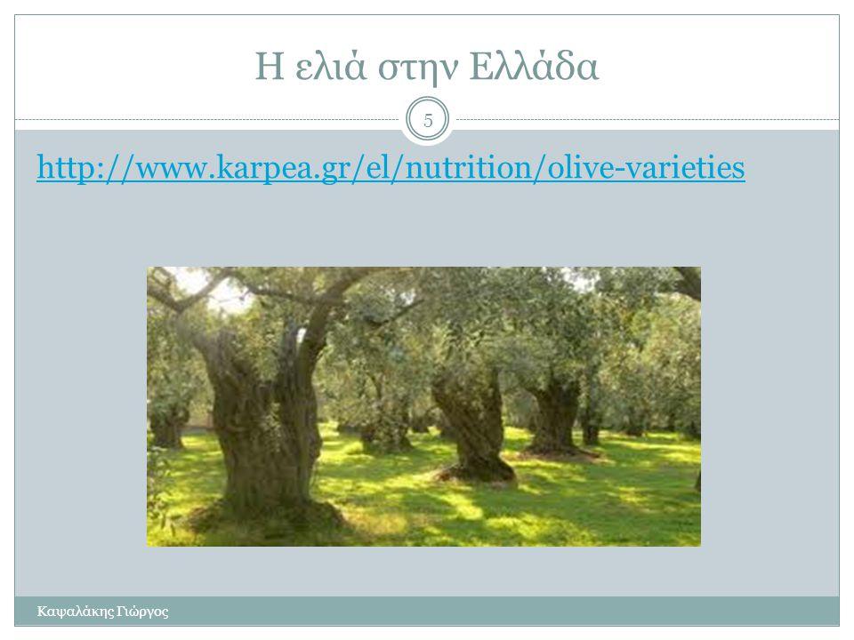 Η ελιά στην Ελλάδα http://www.karpea.gr/el/nutrition/olive-varieties