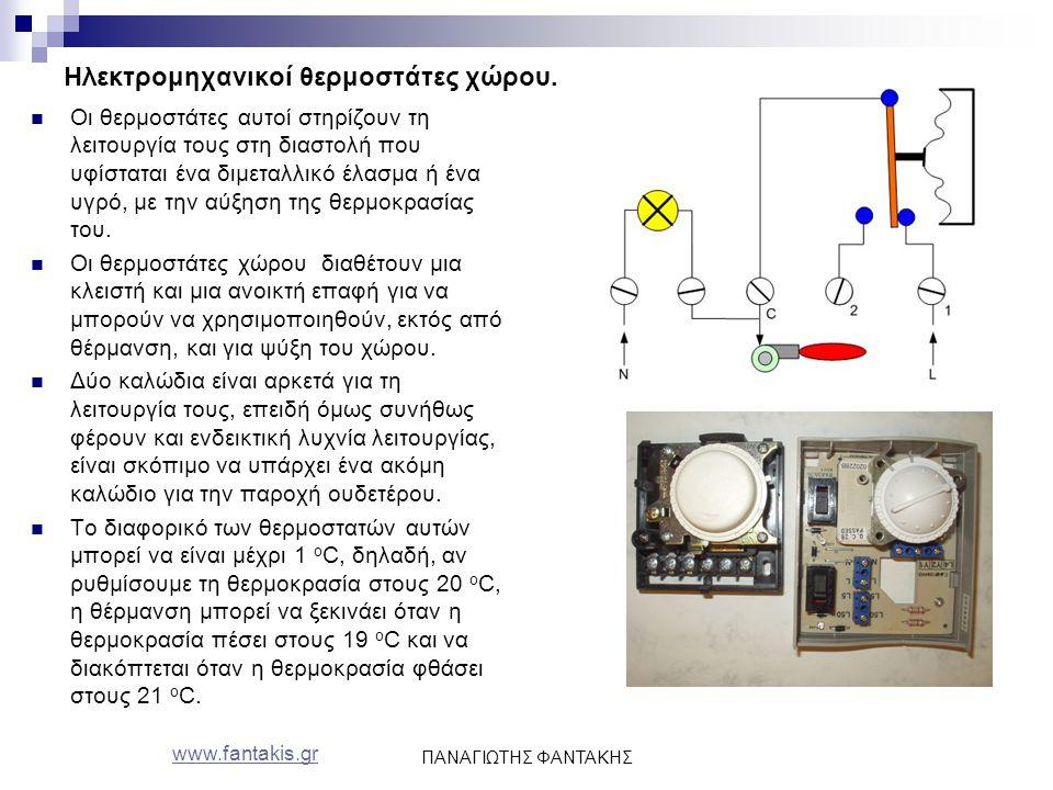 Ηλεκτρομηχανικοί θερμοστάτες χώρου.