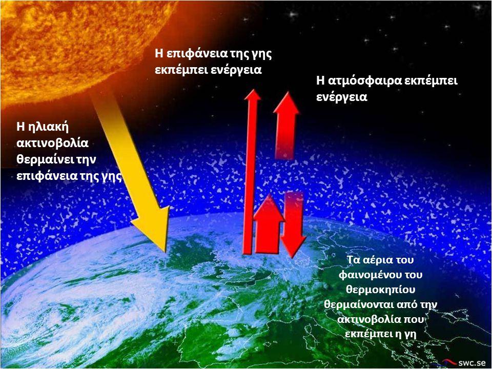 Η επιφάνεια της γης εκπέμπει ενέργεια