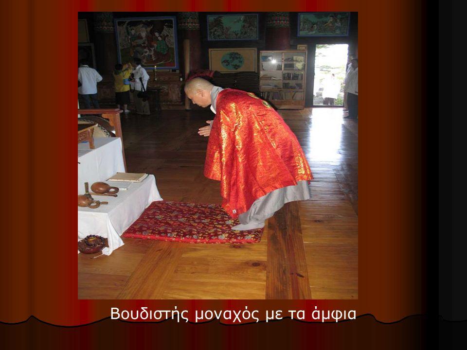 Βουδιστής μοναχός με τα άμφια