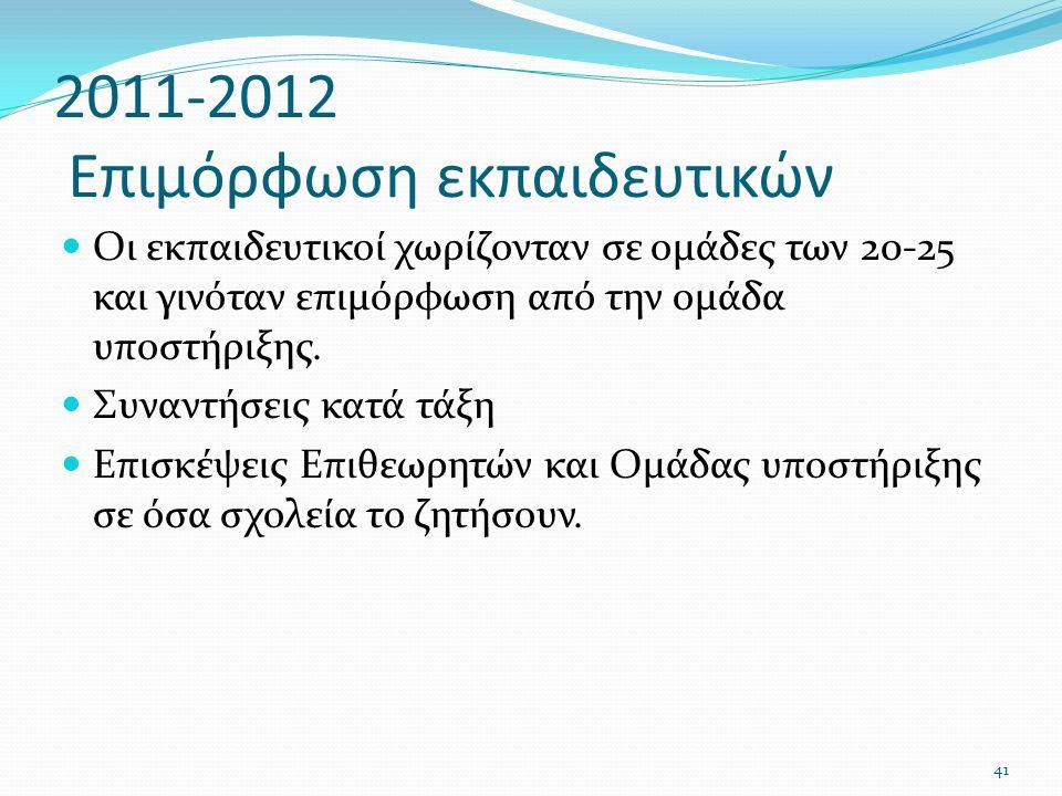 2011-2012 Επιμόρφωση εκπαιδευτικών