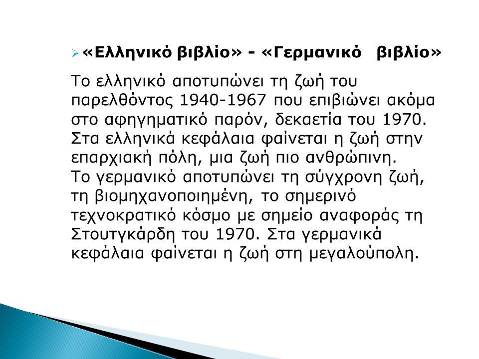 «Ελληνικό βιβλίο» - «Γερμανικό βιβλίο»