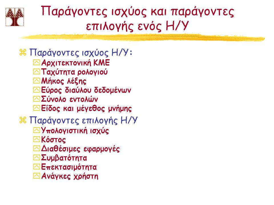 Παράγοντες ισχύος και παράγοντες επιλογής ενός Η/Υ