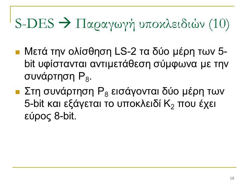 S-DES  Παραγωγή υποκλειδιών (10)