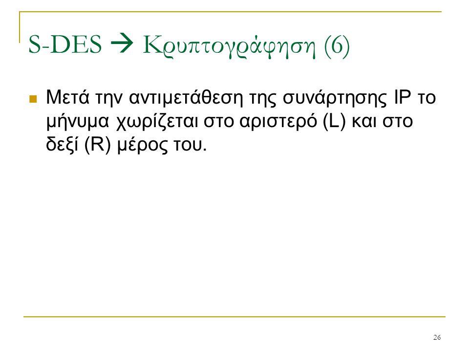 S-DES  Κρυπτογράφηση (6)