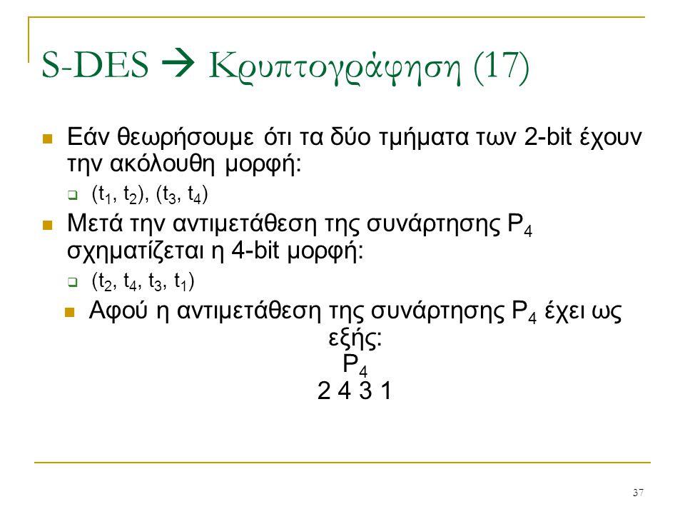 S-DES  Κρυπτογράφηση (17)