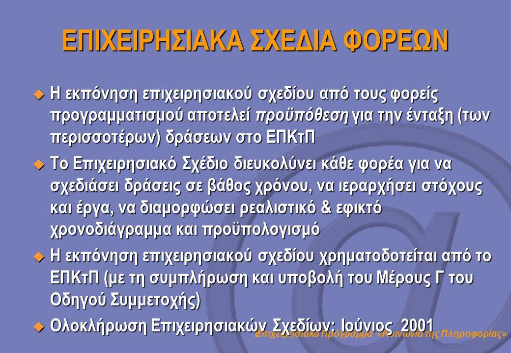 ΕΠΙΧΕΙΡΗΣΙΑΚΑ ΣΧΕΔΙΑ ΦΟΡΕΩΝ