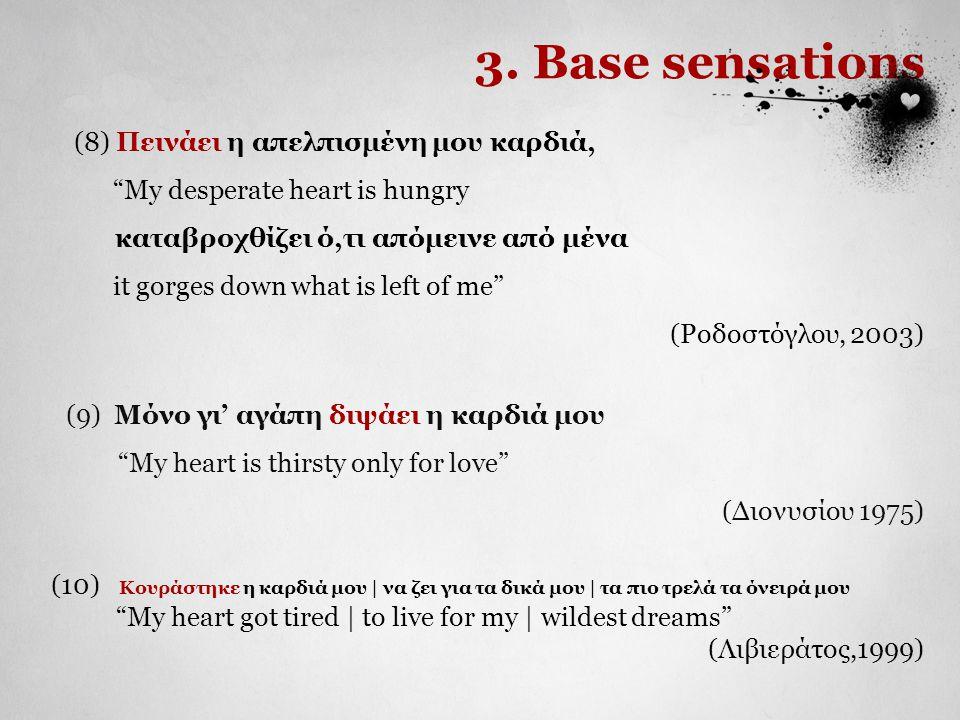 3. Base sensations (8) Πεινάει η απελπισμένη μου καρδιά,