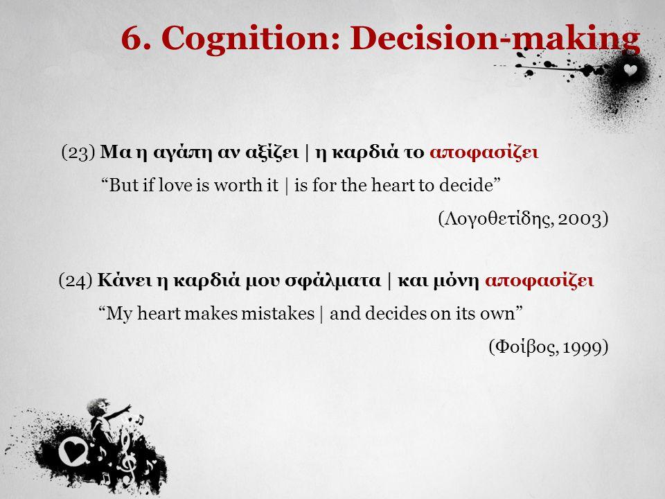 6. Cognition: Decision-making