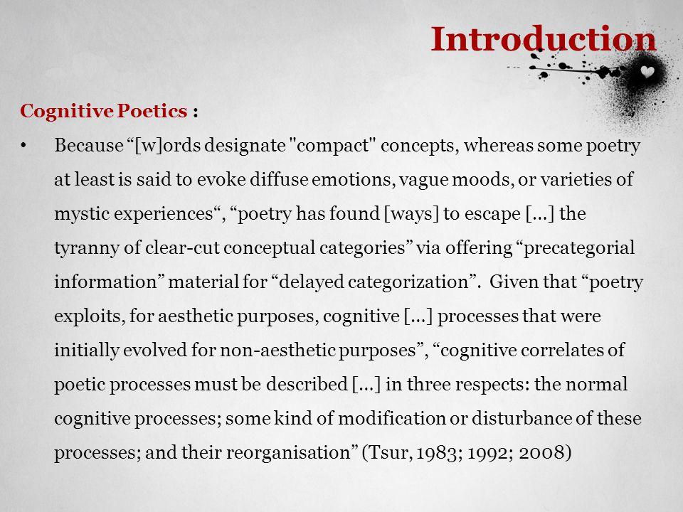 Introduction Cognitive Poetics :