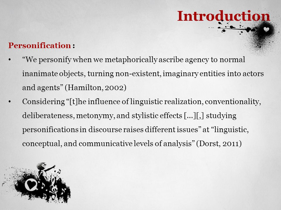Introduction Personification :