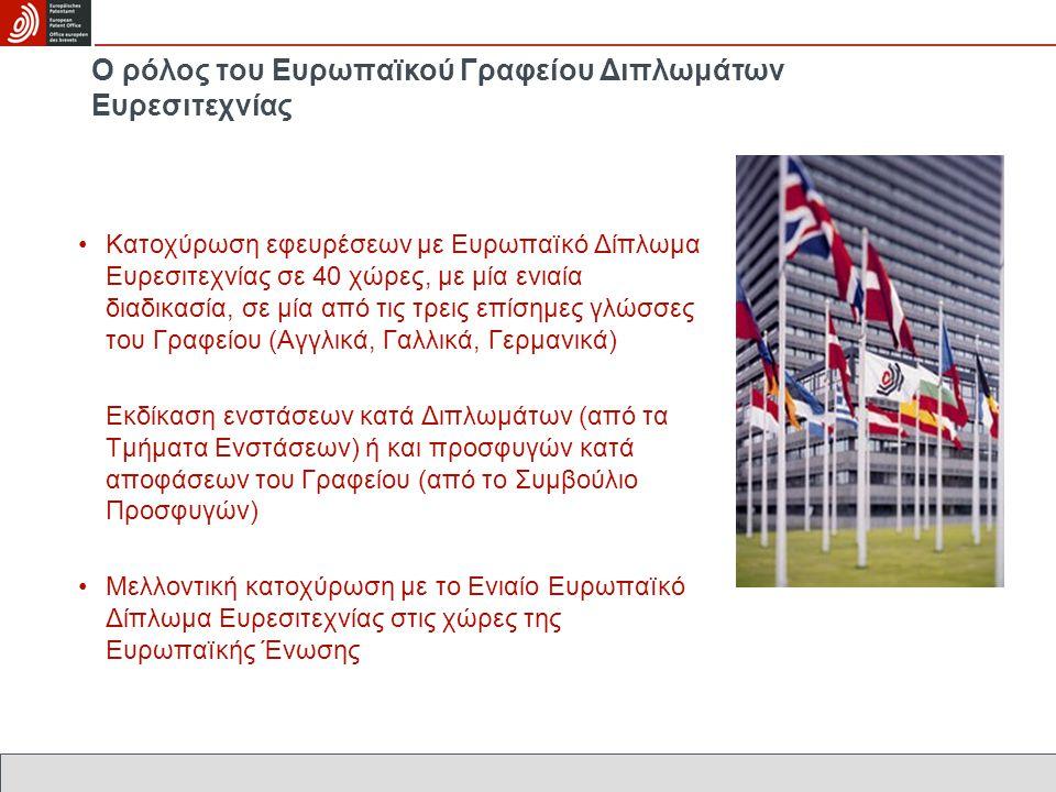 Ο ρόλος του Ευρωπαïκού Γραφείου Διπλωμάτων Ευρεσιτεχνίας