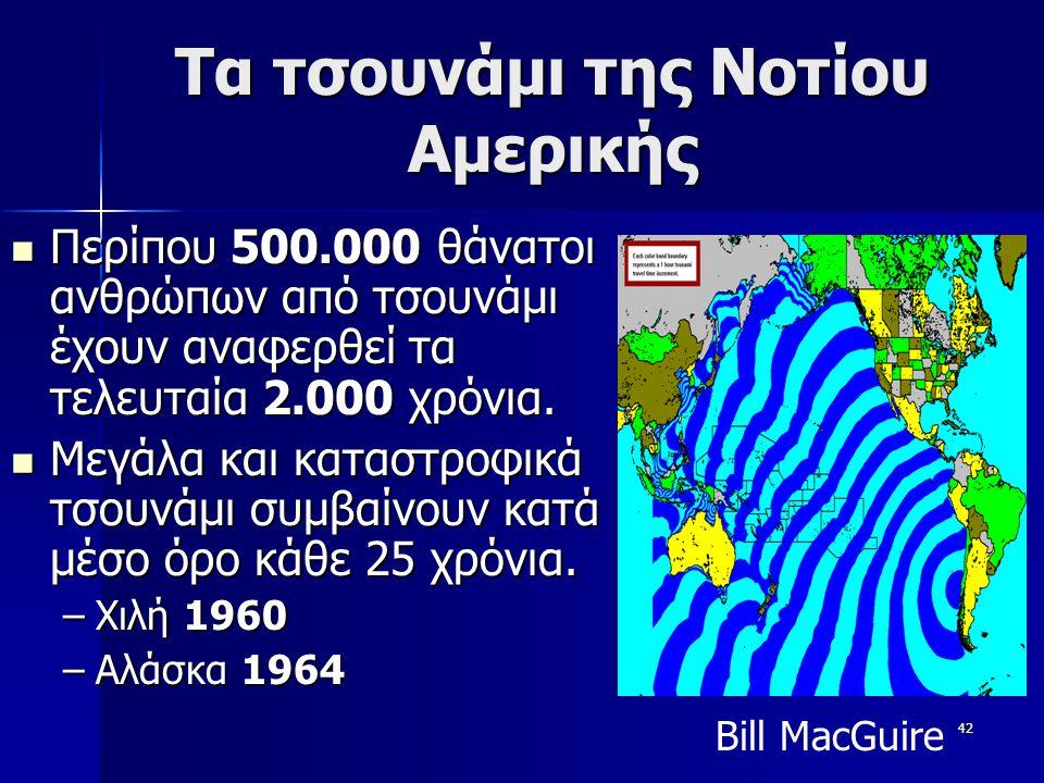 Τα τσουνάμι της Νοτίου Αμερικής