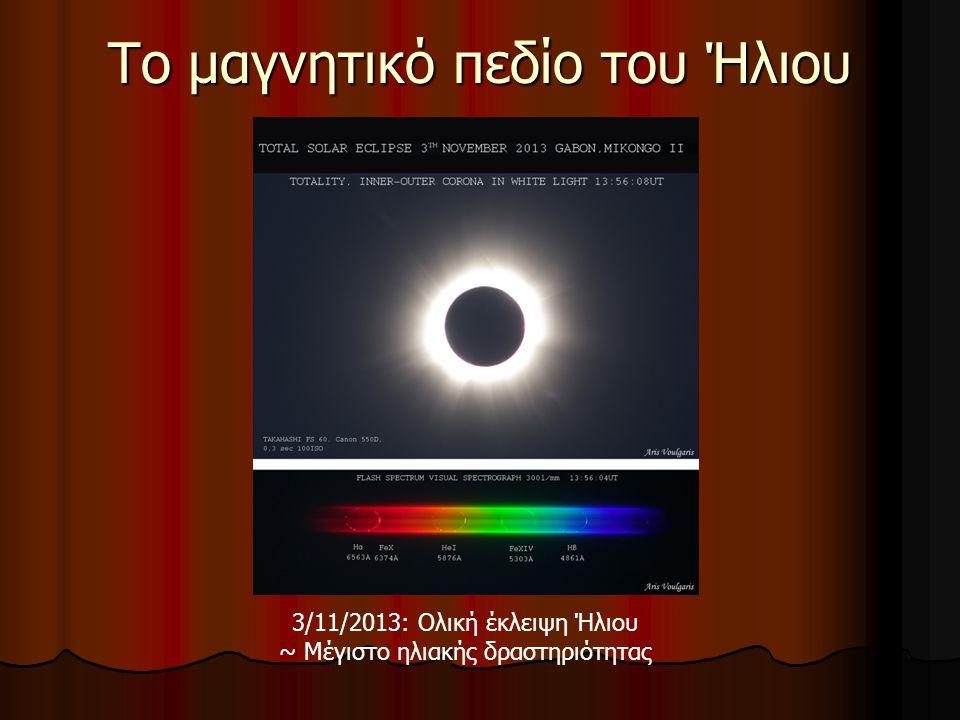 Το μαγνητικό πεδίο του Ήλιου