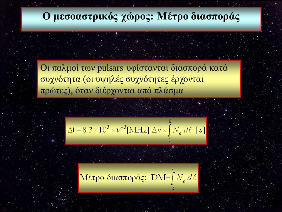 Ο μεσοαστρικός χώρος: Μέτρο διασποράς