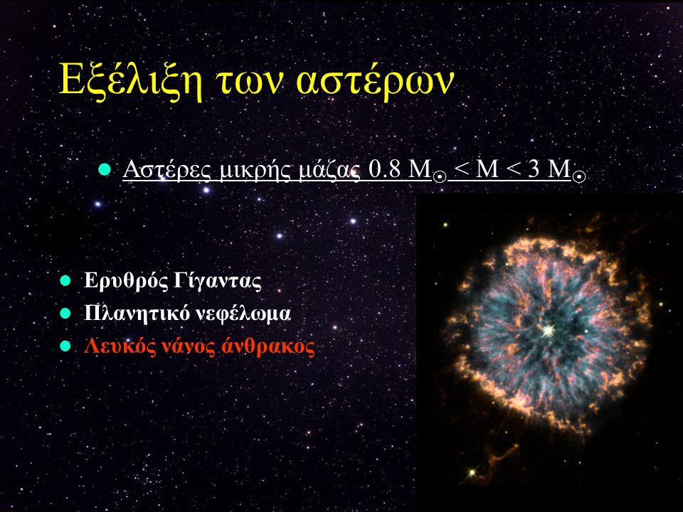 Αστέρες μικρής μάζας 0.8 Μ < Μ < 3 Μ