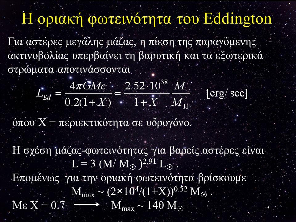 Η οριακή φωτεινότητα του Eddington