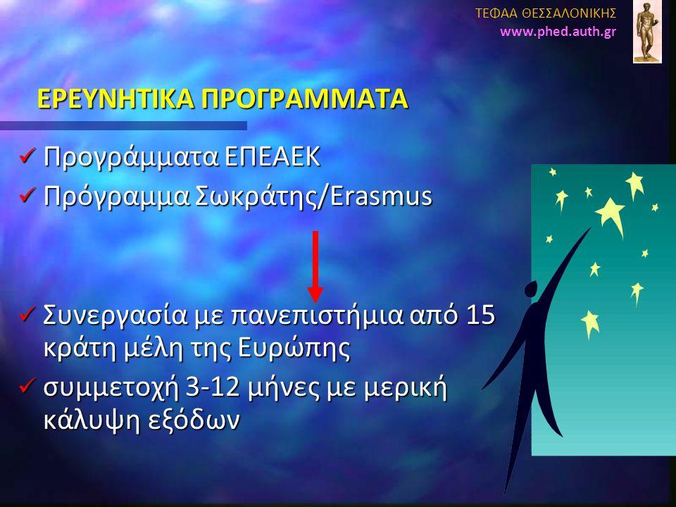 EΡΕΥΝΗΤΙΚΑ ΠΡΟΓΡΑΜΜΑΤΑ
